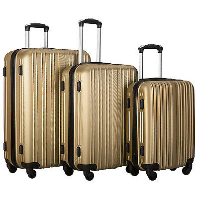 Merax Hylas 3 Piece Hardshell Spinner Luggage Travel Set ABS Trolley Suitcase 2