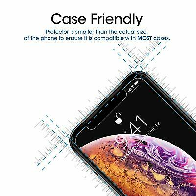 Apple iPhone X XS Max XR 8 7 6 6S Plus SE 5S 5 Tempered Glass Screen Protector 2