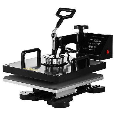 "5 in 1 Heat Press Machine Digital Transfer Sublimation T-Shirt Mug Hat 15""x15"" 3"
