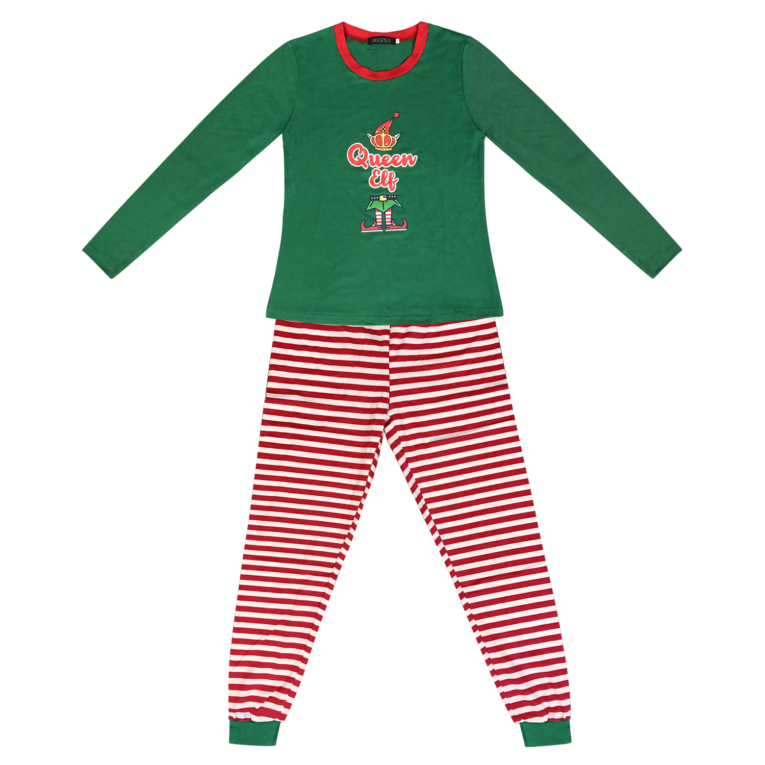 Family Matching Christmas Pyjamas Elf Pajamas Kids Boys Xmas Pjs Girls Nightwear 3