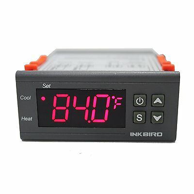 Inkbird Digital Temperature Controller 2 Relay Output Room Thermostat 220V Heat 6