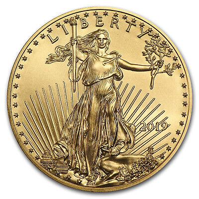 2019 1/10 oz Gold American Eagle BU (w/U.S. Mint Box) - SKU#185239 2