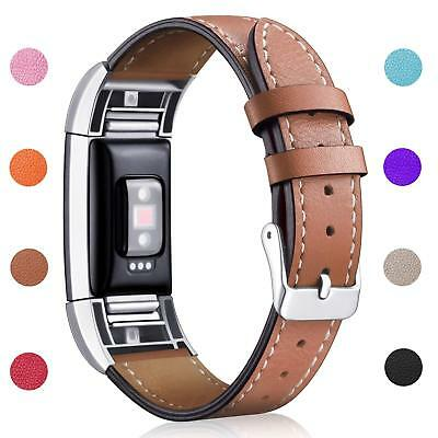 Fitbit Charge 2 Replacement Bands Classic Genuine Leather Wristband Strap Bands 3