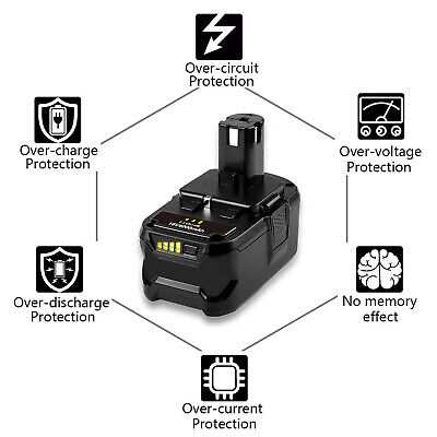 4.0Ah 18 VOLT P108 for 18V RYOBI ONE PLUS Lithium-Ion High Capacity Battery P104 9