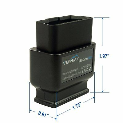 Veepeak OBDCheck BLE Bluetooth 4.0 OBD2 Scanner Adapter for iOS & Android - A... 3