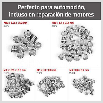 Kit Reparacion De Rosca Helicoil M5, M6, M8, M10 M12 131 Piezas Reparador -1234 5