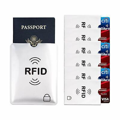 5 x Protector RFID Funda Anti Robo Tarjeta Crédito Pasaporte Cartera 2