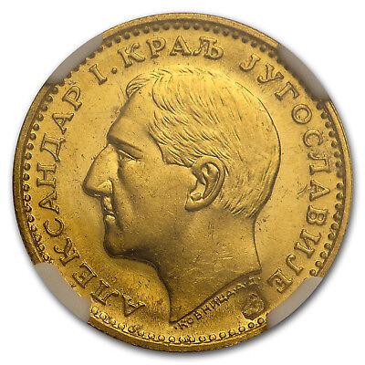 1931-K Yugoslavia Gold Dukat Alexander I MS-62 NGC (Sword) - SKU#167770