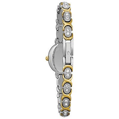 Bulova Women's 98L005 Quartz Silver and Gold Tone Crystal Accents 22mm Watch 2
