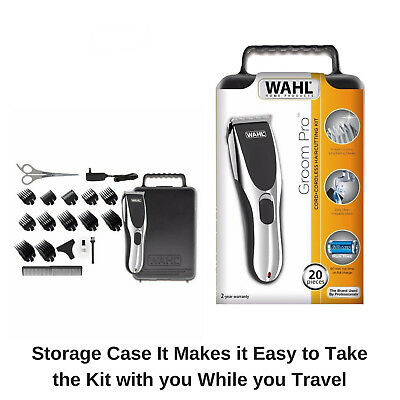 Wahl Cordless Rechargeable Professional Hair Clipper Shaver Trimmer Grooming Set 8