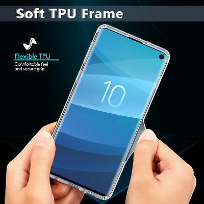 For Samsung Galaxy S10 / S10+ Plus Crystal Clear Ultra Slim TPU Phone Case Cover 5