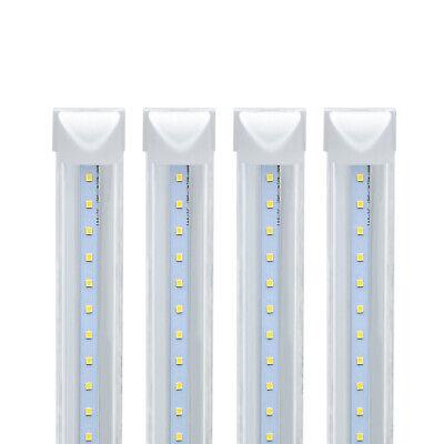 4-100 Pack JESLED T8 Integrated 4-8FT LED Tube Light 22/72W V-Shape 7600LM 6000K 5