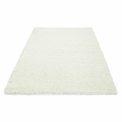 5cm HIGH PILE SMALL EXTRA LARGE PREMIUM QUALITY NON SHED THICK SHAGGY RUG CREAM 4