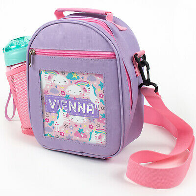 Kids Personalised Lunch Bag Insulated School Fairy Fantasy Gift Cool Any Name