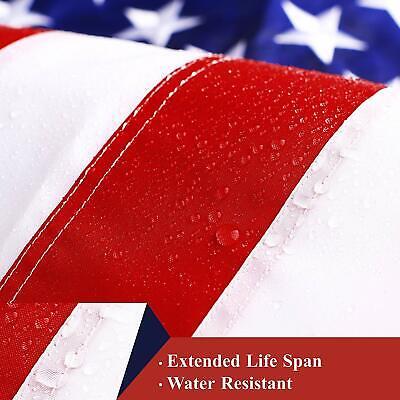 G128 – American Flag US USA | 3'x5' ft | EMBROIDERED Stars, Sewn Stripes 5
