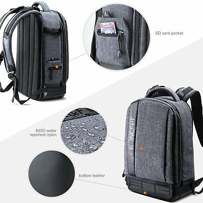 K&F Concept Camera Photo Backpack Bag Case Waterproof for Canon Nikon Sony DSLR 6