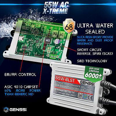 GENSSI AC 55W HID Kit H4 H7 H11 H13 9003 9005 9006 9007 6000K Hi-Lo Bi-Xenon 5