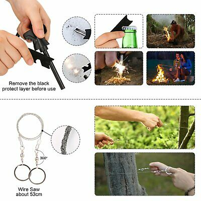 14 in 1 Outdoor Camping Survival Gear Kits SOS EDC Self Defense Emergency Kit 9