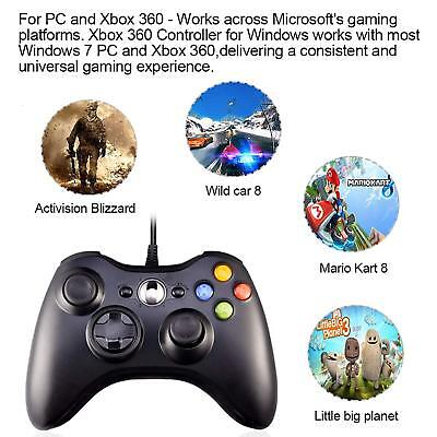 Wired USB Game Controller Joystick for Microsoft Xbox 360 / PC Windows XP 7 8 10 6