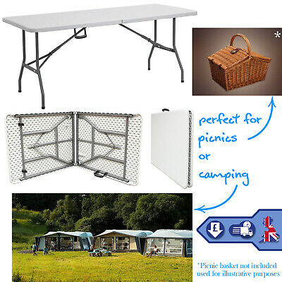 5FT Folding Table Trestle Catering Camping Picnic Party Indoor Outdoor 2