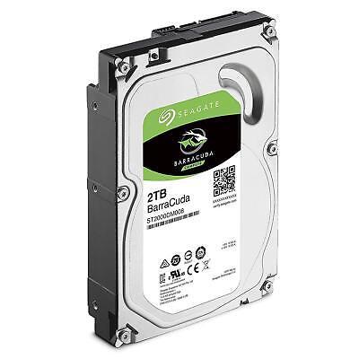 """Seagate BarraCuda 2TB 3.5"""" SATA Internal Desktop Hard Drive HDD 7200RPM 256MB 2"""