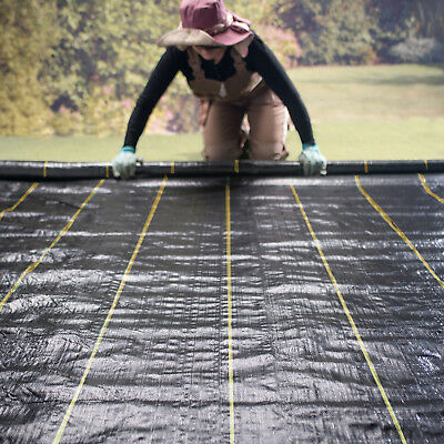 4m Extra Heavy Duty garden weed control fabric ground cover membrane landscape 7