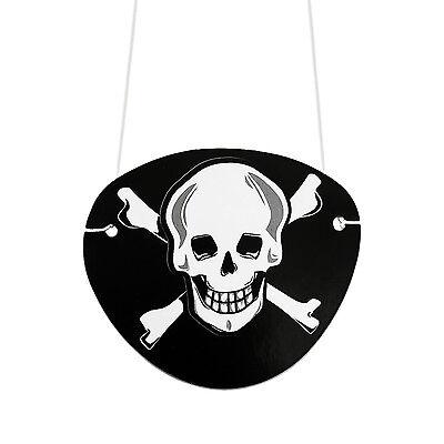 9 Augenklappen Piraten Schwarz Totenkopf Fasching Piratenkostüm Geburstag