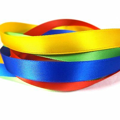 """Satin Ribbon 13mm (1/2"""" inch) - 35 Plain Coloured Double Sided / Faced Ribbon 2"""