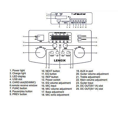 Portable Karaoke Machine Home Audio Bluetooth Speaker System Wireless Microphone 11