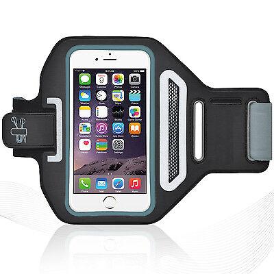 "Universal Smartphones 4.7"" Black Lycra Armband Sports Reflective Headphone Tie"
