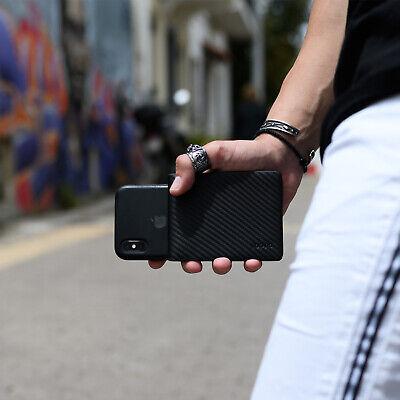 Mens Wallet Rfid Black Genuine Carbon Fiber Leather  Slim Mens Bifold 4