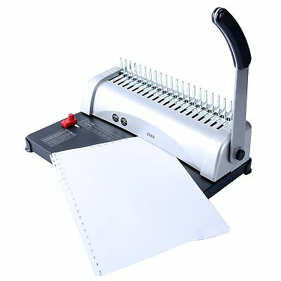 Binding Machine Paper Punch Binder with Starter Combs Set - 450 Sheets, 21 Hole 5