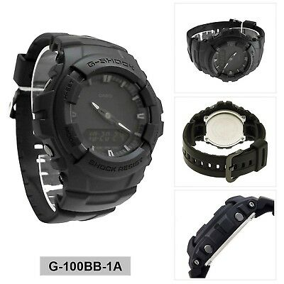 Casio G-shock Men's Black Out Series Analog Digital watch G100BB-1A 2