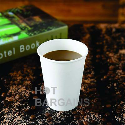 12oz Disposable Single Wall White Paper Cups for Hot Drinks Tea , ECO - FRIENDLY 5