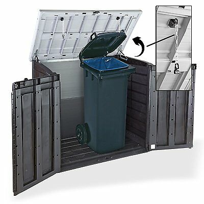 keter store it out max xl grey lid plastic garden shed wheelie bin storage picclick uk. Black Bedroom Furniture Sets. Home Design Ideas