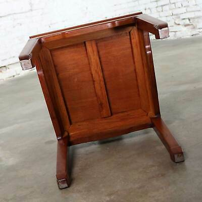 Asian Teak Hand Carved Side Chair in the Style of George Zee 11