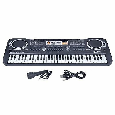 61 Keys Digital Electric Piano Music Electronic Keyboard Organ Mini Microphone 10