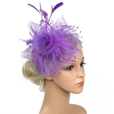 Ladies' Day Fascinator Hat Cocktail Tea Party Headband Women Wedding Hair Clip 7