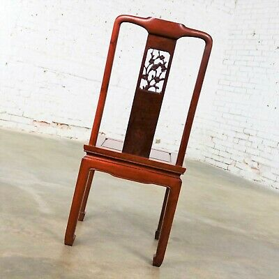 Asian Teak Hand Carved Side Chair in the Style of George Zee 7