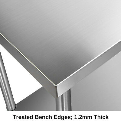 430 Stainless Steel Bench Table Commercial Home Kitchen Work Food Grade Shelf 5