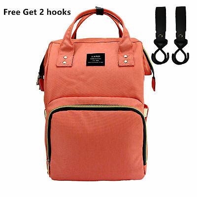 LAND Waterproof Mommy Baby Diaper Bag Nappy Backpack + Stroller Hooks 8