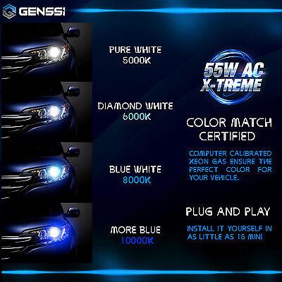 GENSSI AC 55W HID Kit H4 H7 H11 H13 9003 9005 9006 9007 6000K Hi-Lo Bi-Xenon 7