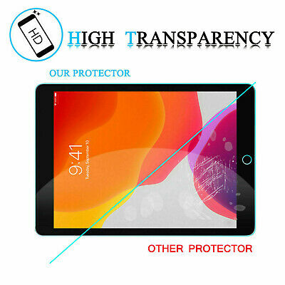 [2-Pack] Tempered GLASS Screen Protector for Apple iPad 7th Generation 2019 10.2 4