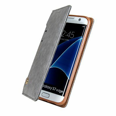 Luxury Card Slot Stand Flip Leather Wallet Case Cover For Samsung S7 Edge S8 + 10