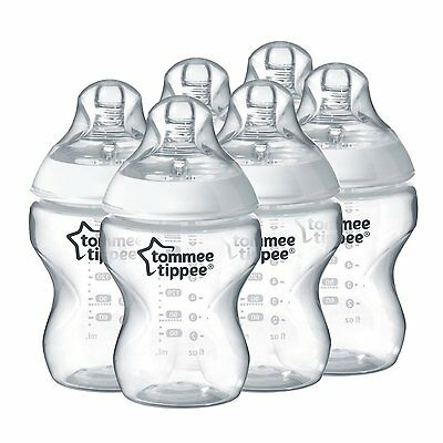 NEW Tommee Tippee Closer to Nature 260 ml/9fl oz Feeding Baby Bottles (6-pack) 4
