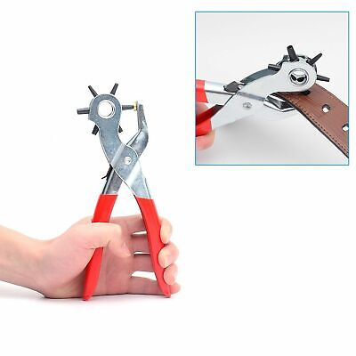 """6 Sized 9"""" Heavy Duty Leather Hole Punch Hand Pliers Belt Holes Punches 8"""