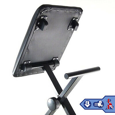 Height Adjustable Piano Stand & Stool Rectangular Frame Keyboard Stand Full Size 5