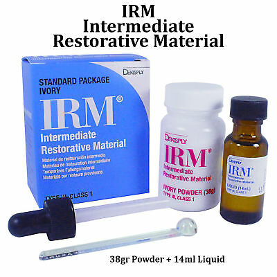 IRM Kit Powder 38g + liquid 14mL Standard Package Ivory Dentsply Dental #610007