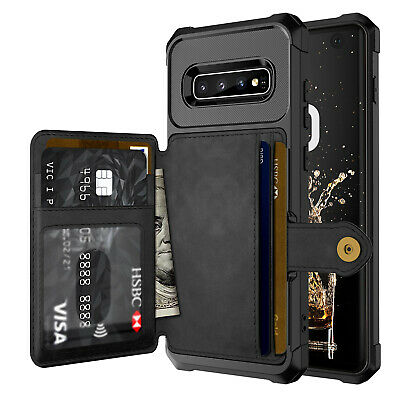 Samsung Galaxy S10 S10+ Plus S10e Case, Leather Wallet Card Shockproof Cover 2