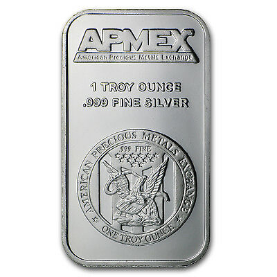 1 oz APMEX Silver Bar .999 Fine Lot of 10 - SKU #81774 2